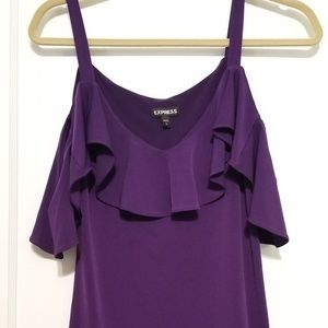 Off The Shoulder Dark Purple Top (S)